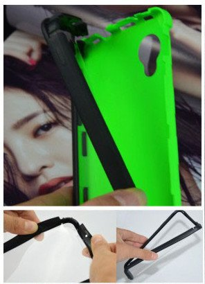 For Google LG Nexus 5 Front + Back 2 in 1 Full Body Touch Screen Protector Hard Case Cover - GREEN  available at amazon for Rs.299