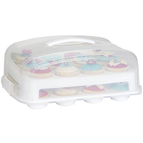 Patisse Cupcake Transportbox für 24 Cupcakes und Muffins 2 stöckig (Pops Cake Boxen)