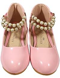 TZ _Online Niña infantil Hermosa Princesa Zapatos Zapatos de Baile Zapatos de Diario/Fiesta/Zapatos de Noche Escuela usando
