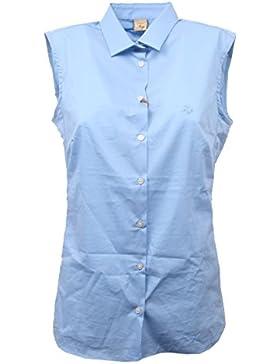 C8684 camicia donna FAY smanicata azzurro shirt sleeveless woman