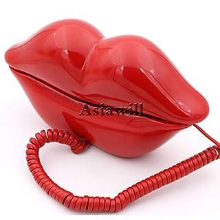 asiawill Neuheit Sexy Rot Kiss Hot Lips Design Home Schreibtisch Wired Phone Home Telefon Telefon