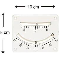Neigungsmesser Krängungsmesser mit 2 Skalen 100 x 80 mm