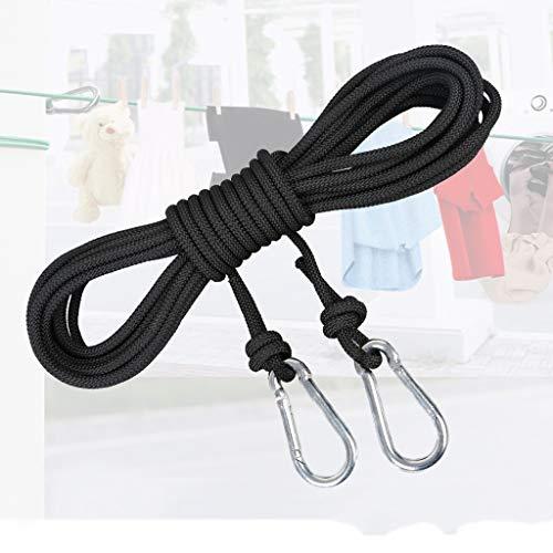 Ficelles de jardinage Corde d'escalade extérieure de diamètre -6mm, noire, verte, orange, rouge, blanche 5m, 10m, 15m, équipement de survie grimpant sur une corde pour explorer la corde de sauvetage.