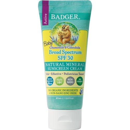 Badger Sunscreen Creams 30 Baby - Sonnenschutzcreme, 1er Pack (1 x 87 g)