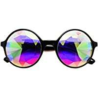 ASVP Shop Kaleidoscope Round Crystal Lens Dance Rave Festival Party EDM Sunglasses Glasses
