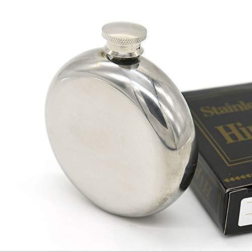 EODUDO-S Edelstahl Outdoor Tragbare 5 Unzen Flachmann Set Bonus Tassen Trichter Wasser Alkohol Reisebehälter Getränkeflasche Für Wandern Silber, Weitere Stile (5 Unzen Tassen)