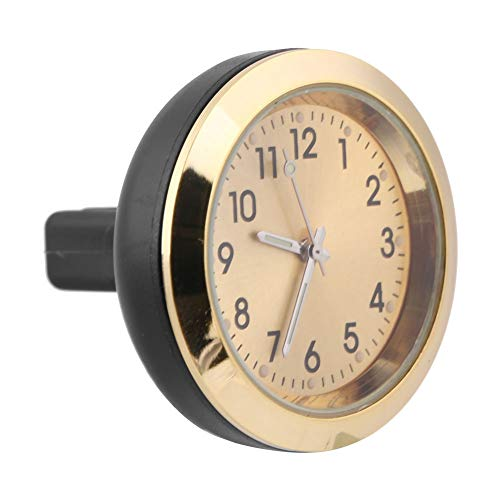 Akozon Car Interior Aromatherapie Clock Air Outlet Clip Gauge elektronische Uhr Parfüm Refill(Gold)