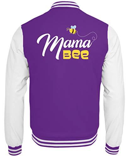Mama Bee Mutter Und Kind Partnerlook Bienen Imkerin Collegejacke - College Sweatjacke -XXL-Lila-Weiss