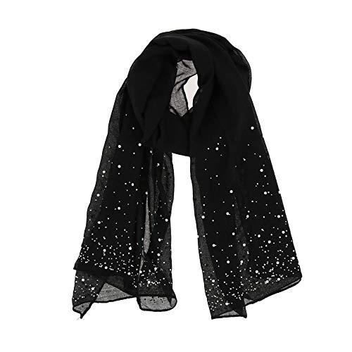 Fashiongen - Bufanda para Mujer, LEIA - Negro