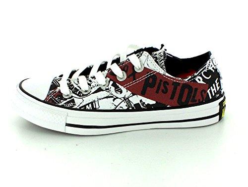 Converse Sneakers Chuck Taylor All Star C151195, Scarpe da Ginnastica Unisex-Adulto White/Black/Royal