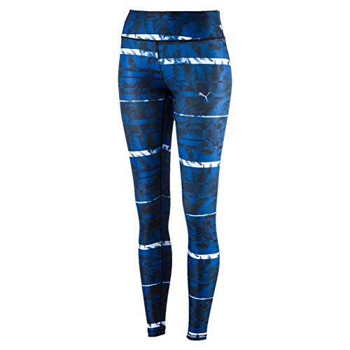 Puma Pantalon All Eyes On Me Collant pour femme Black/True Blue/Feather Print