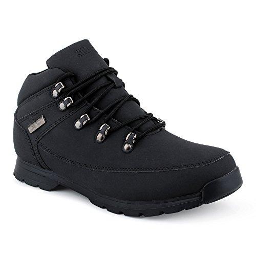 Herren Outdoor Schnür Boots Wander Stiefel Stiefeletten Mehrfarbig Worker Schuhe Schwarz EU 44