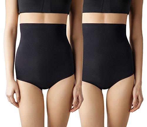 6c600342adeaf MD Women s Seamless Shapewear High-Waisted Tummy Control Briefs Tummy and Bottom  Body Shaper 2Large Black - Buy Online in Oman.