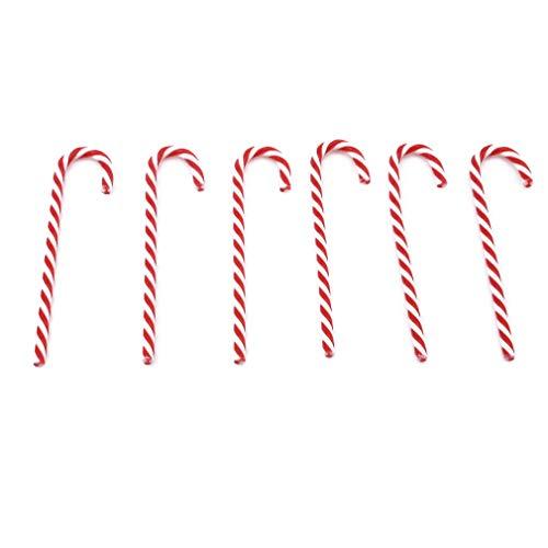 JOYfree Christmas Candy Canes Verdrehte Weihnachtsmann Gehstock Weihnachtsbaum Hängende Verzierung Dekorationen Weihnachtsfeier Taschen Geschenk Süßigkeiten für Schulkinder