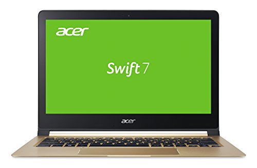 Acer Swift 7 (SF713-51-M8MF) 33,8 cm (13,3 Zoll Full HD IPS) Notebook (Intel Core i5-7Y54, 8GB RAM, 256GB SSD, Intel HD Graphics 615, Win 10 Home) schwarz