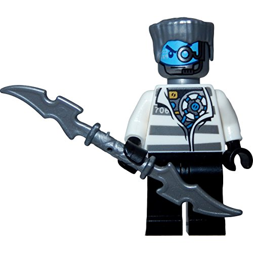 Preisvergleich Produktbild LEGO Ninjago Minifigur Zane Prison Outfit aus Set 70591 incl. GALAXYARMS Schwert