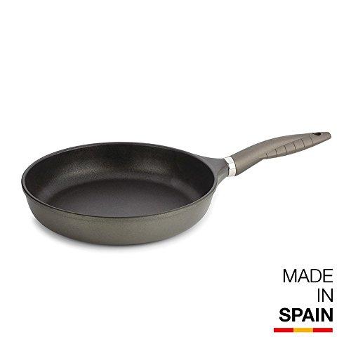 Valira Tecnoform - Sartén 24 cm, Color Negro.Made IN Spain