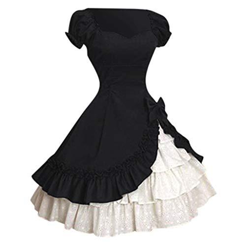 Solike Mittelalter Kleidung Damen Viktorianisches Rokoko-Kleid, Barock Prinzessin Kleid Retro Stick...