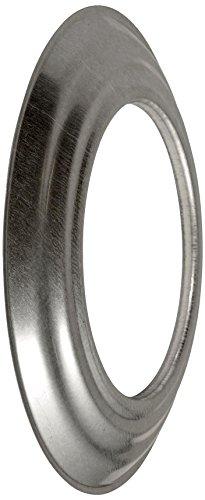 Bertrams 032910 Ofenrohr-Rosette Relief 5cm für FAL Ofenrohre & Bögen - Stahlblech feueraluminiert, Silber, Ø120mm