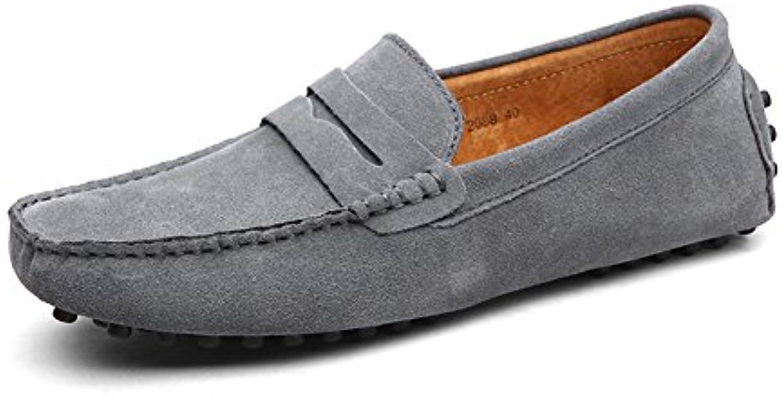 XUE Herren Schuhe Wildleder Formelle Schuhe Leichte Sohlen Loafers  Slip Ons fuumlr Casual Office  Karriere Outdoor