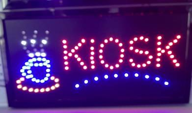 "LED Display Leuchtreklame Werbeschild ""KIOSK"""