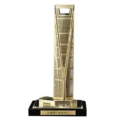 DDCYY Shanghai World Financial Center,Architekturmodell,Kristallarchitekturmodell,Dekorative Skulptur, Desktop-Sammlung, Touristische Souvenirs (7,5x7,5x14,2 cm) (Shanghai Kostüm)