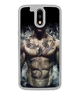 Fuson Designer Back Case Cover for Motorola Moto G4 Plus (Bost art Tattoo Snake Dragon Muscle)