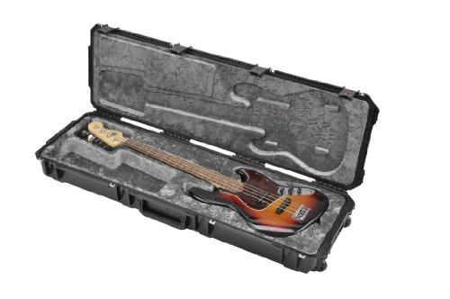 zguss wasserdichter P/J Style elektrischer Bass Flug-Transportkoffer (TSA-Verschlüsse, Rädern) (J-bass)