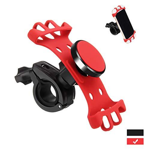 Charminer Supporto Cellulare per Bici, Supporto Smartphone per Moto Supporto 360 Rotazione