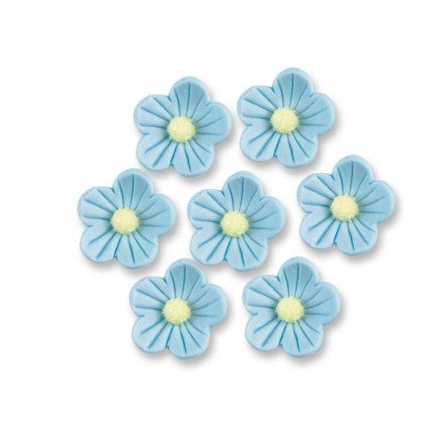 12 Stück Zuckerblumen, hellblau