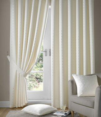 Cream Ivory Curtains Tape Top Madison 90x108