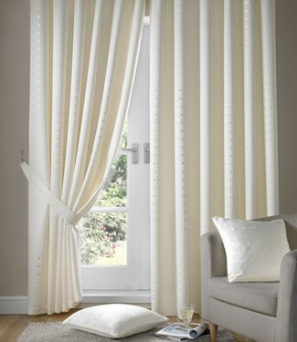 Cream Ivory Curtains Tape Top Madison 90x90