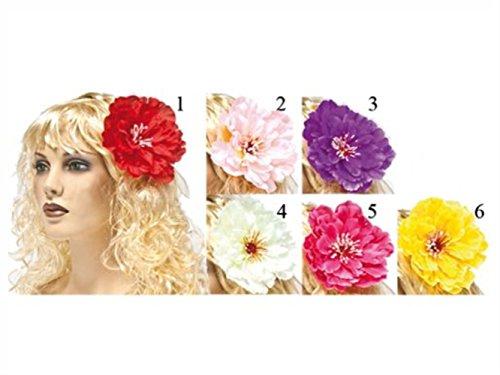 HAAC Hawaii Blüten Blumen Haarblumen rot, pink, rosa, weiß, lila oder gelb für Fasching Karneval Party