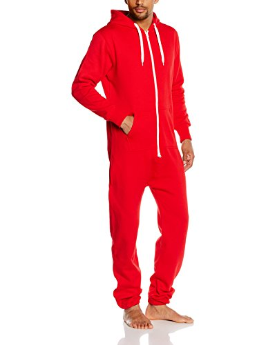 Urban Classics - Salopette - Relaxed Homme Rouge - Rouge