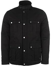 Firetrap Mens 4 Pocket Jacket Padded Coat Top Lightweight Zip Full Warm Press