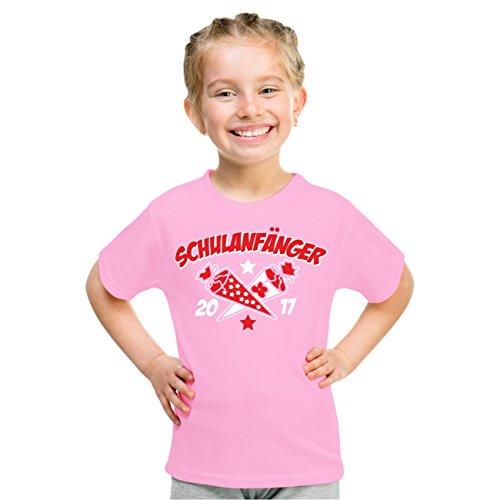 Kinder T-Shirt SCHULANFÄNGER Schuleinführung 2017 Rosa