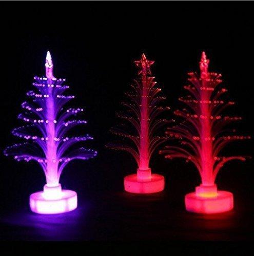 4 cm LED Leuchtende Weihnachtsbäume Ornament Blitzlicht Glänzende Weihnachtsbaum Dekor Glühen In Dunklen Hause Schreibtisch Dekor Ornament (Halloween Christmas Tree Ornaments)