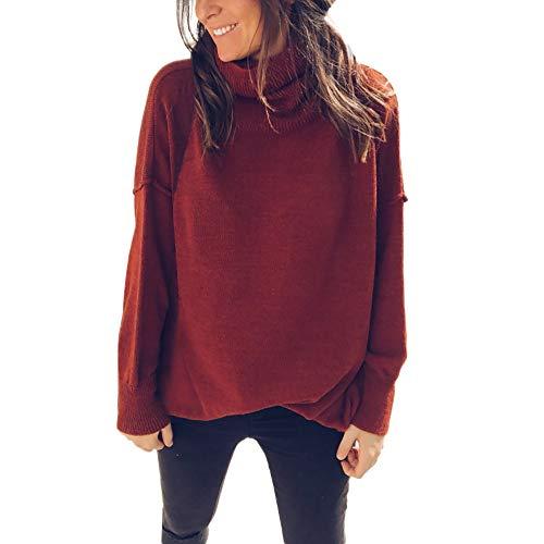 Preisvergleich Produktbild Sweater Damen Mode Sweatshirt Frauen Herbst Frühling Pulli Lang Tunika Slim Fit Shirt zum zelten von ABsoar