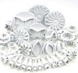 Generic Cake Decration Tool Set Fondant Cake Cutter Sugarcraft Icing Decorating Flower Modelling Tools (10 Sets (33Pcs))