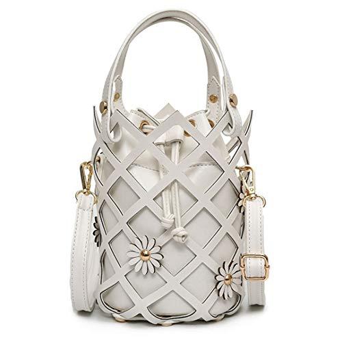 Sommer Damenmode Umhängetaschen Aushöhlen Handtaschen Damen Pu Leder Messenger Bags White - Leder Bradley Vera Handtaschen Aus