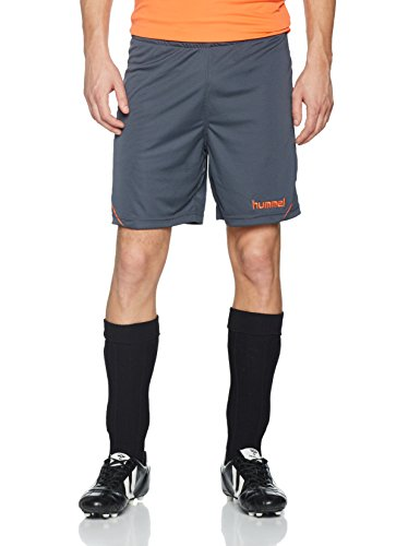 Hummel Herren Auth Charge Poly Shorts, Ombre Blue/Nasturtium, L