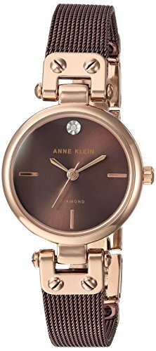 Anne Klein Reloj Analógico para Mujer de Cuarzo con Correa en Acero Inoxidable AK/N3003RGBN