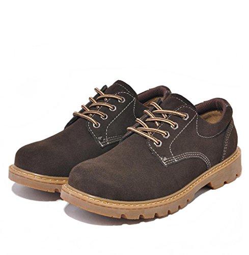 WZW kausale retro Lowcut Wildleder Leder/Arbeit/Skater Schuhe für Herren coffee