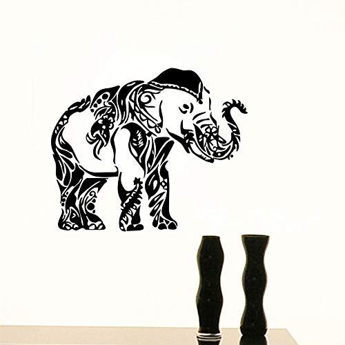 Wandaufkleber Vinyl Aufkleber Aufkleber Ganesha Wandtattoos Indian Elephant Animals Removable Home Design Kunstwand Wohnzimmer Schlafzimmer Dekor 71x59 cm