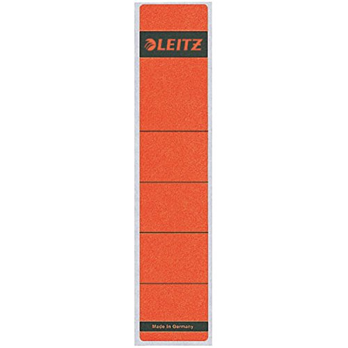 Preisvergleich Produktbild Leitz 16430025 Rückenschild (kurz, Aktendeckel) 10 Stück rot