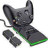 Xbox One Controller Ladestation, BEBONCOOL 2x800mAh Xbox One Akku Xbox Controller Ladestation, Dual Xbox Akku Ladeatation Zubehörsets für Xbox One S/Xbox One X/Xbox One Elite/Xbox One Controller
