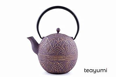 teayumi–toy? Théière en fonte 0,9l Violet/Or