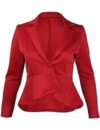 quality design 21e35 5f729 Amazon.it: giacca rossa donna elegante - 52 / Donna ...