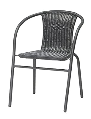 JYSK Garden Stacking chair GRENAA steel/PE black - low-cost UK light shop.