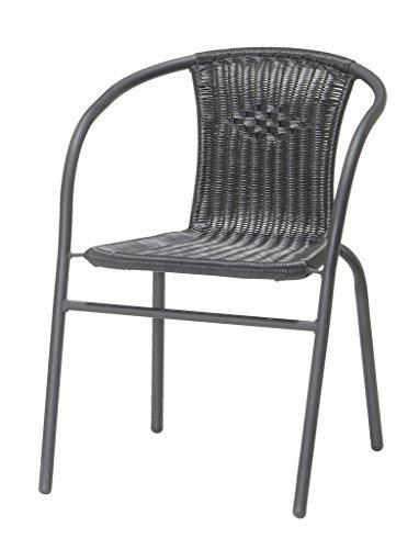 JYSK Garden Stacking chair GRENAA black